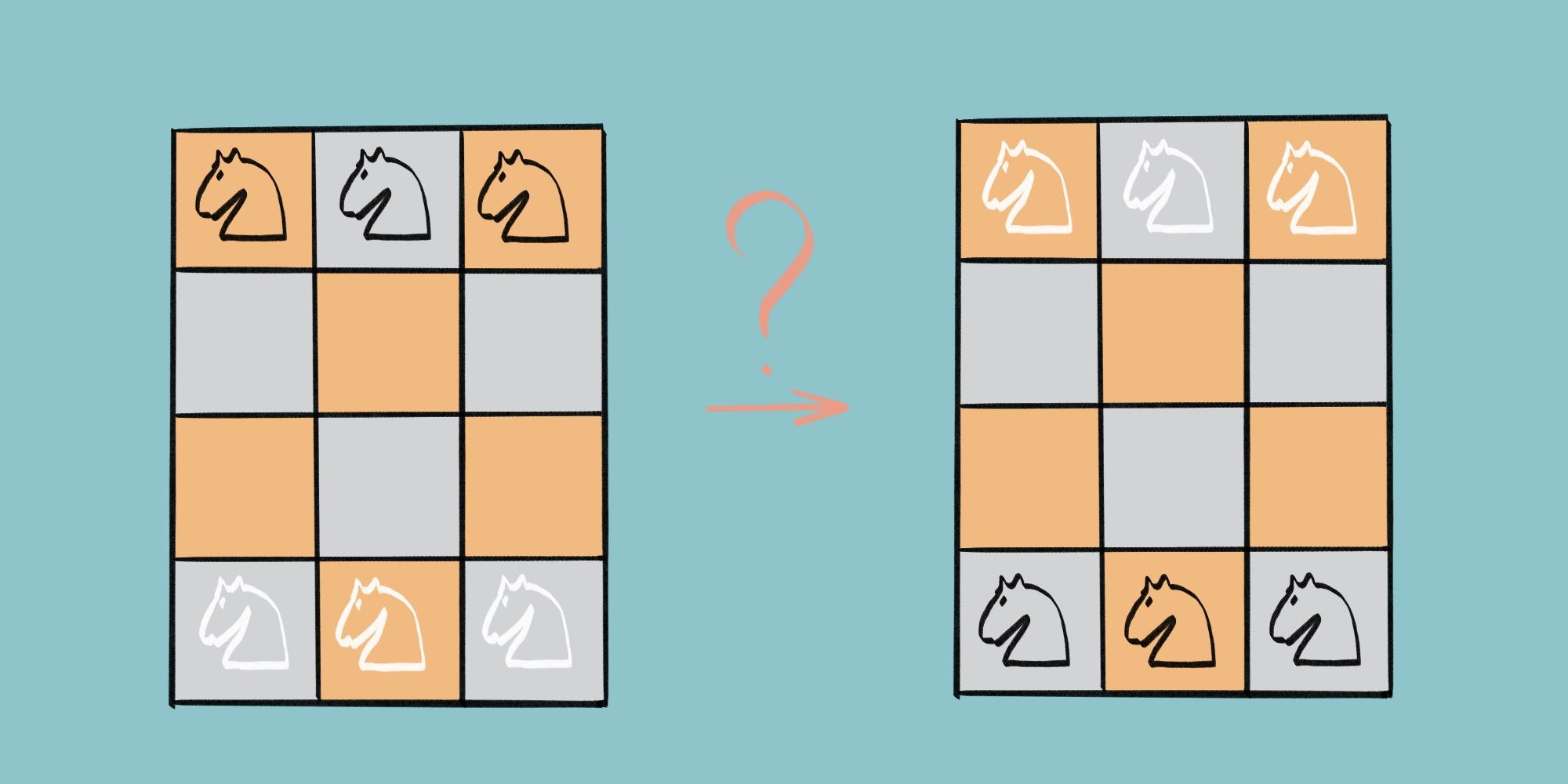 Задача о шести шахматных конях