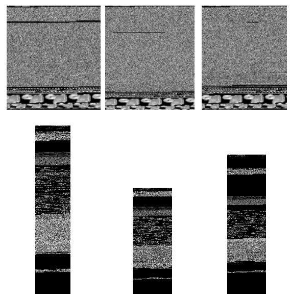 Верхний ряд: отображения программ образцов вредоносных программ семейства Fakerean, нижний ряд – отображения программ семейства Donotvo.A