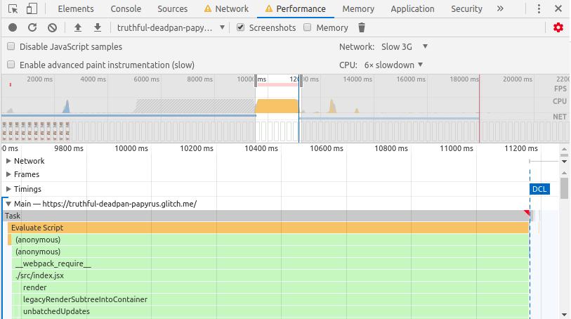 """Рис. 25. Панель <code class=""""inline-code"""">Performance</code> отслеживает загрузку сайта"""