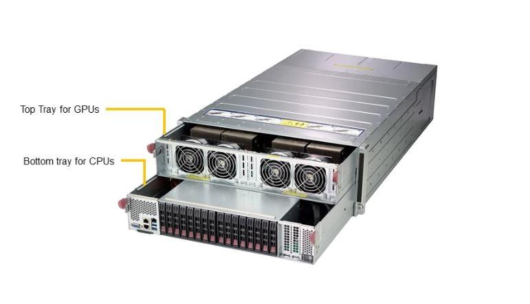 Рис. 14. Сервер SuperMicro Superserver 4028gr-tvrt, до 8 Tesla v100 sxm2