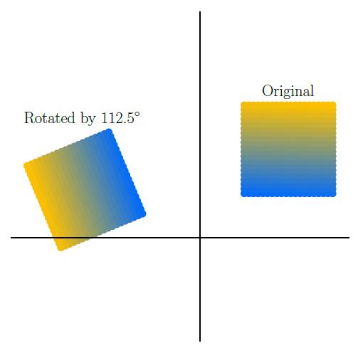 Поворот исходного изображения (Original) на 112.5 градусов
