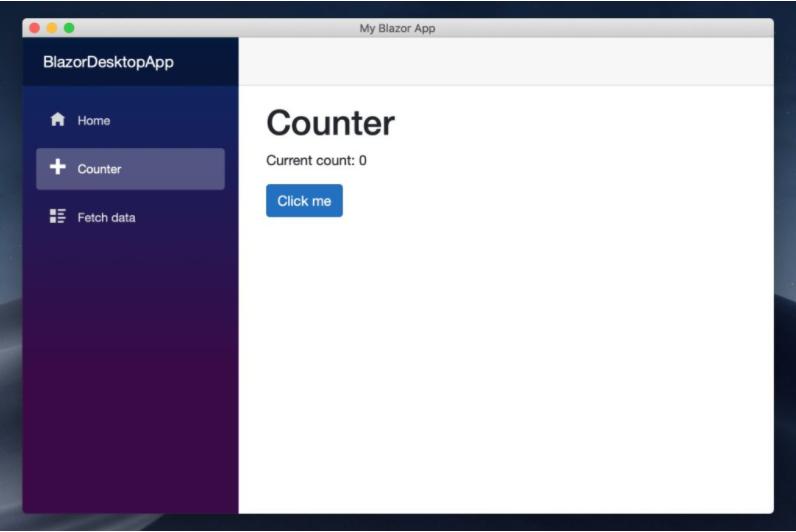 Blazor Desktop App