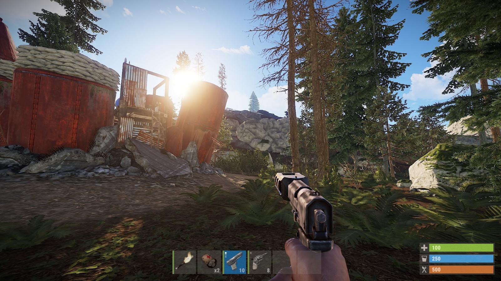 Игра Rust написана на движке Unity
