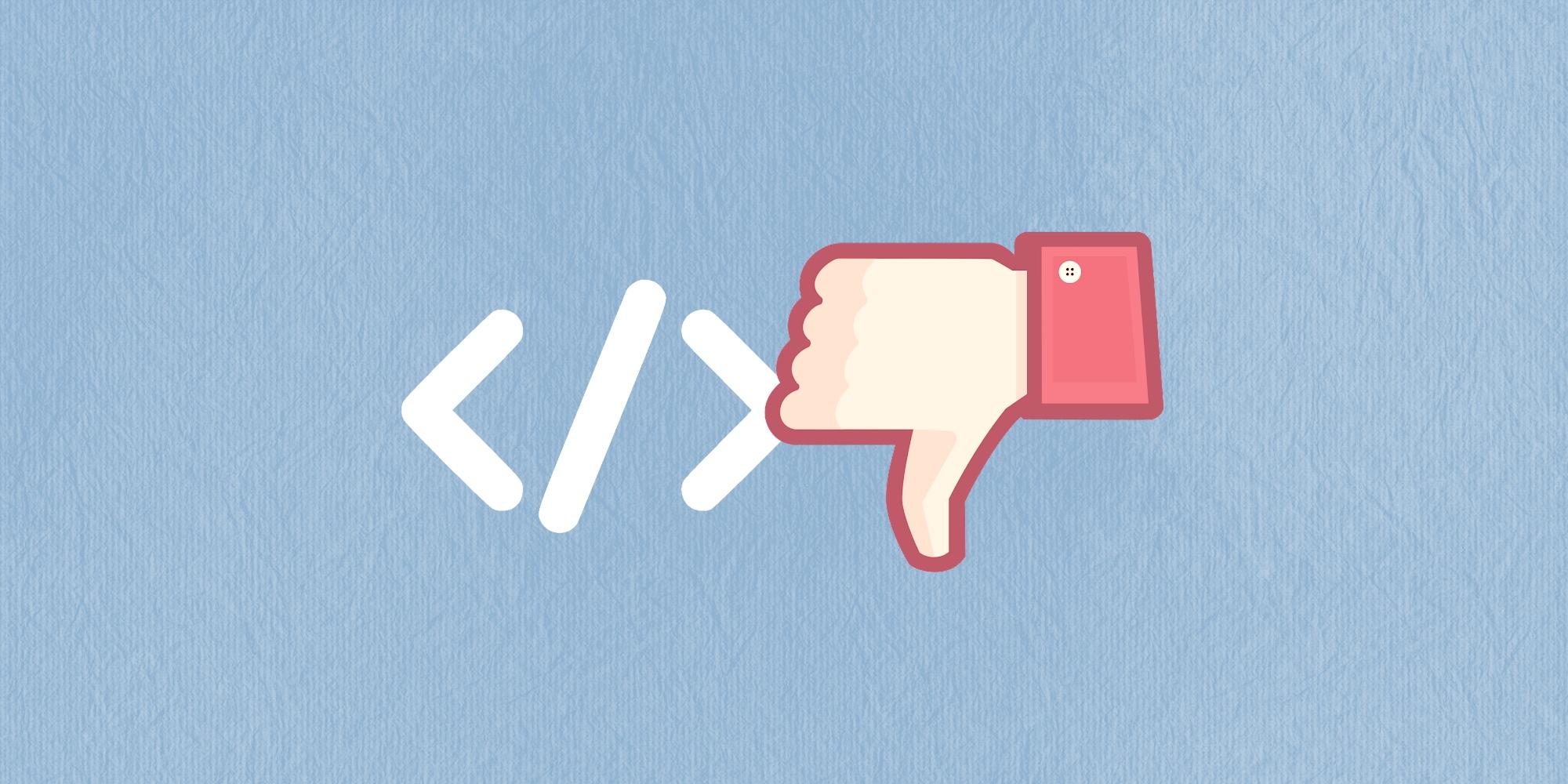 👎 6 признаков того, что вы плохой программист