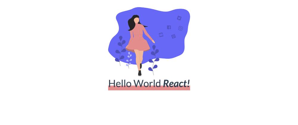 Основное приложение Hello World с состоянием по умолчанию «React»