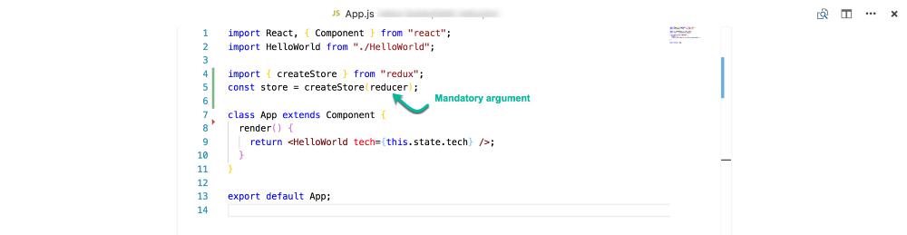 """Редуктор является обязательным аргументом, переданным в """"createStore"""""""