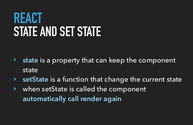 React setState
