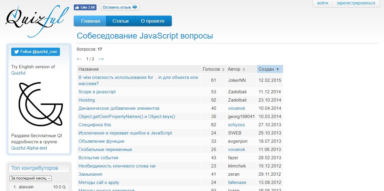 Где JavaScript джуну получать тестовые задания для практики?