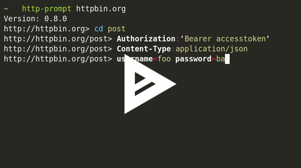 Python HTTP Prompt