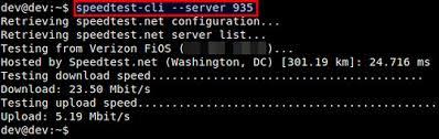 Python speedtest-cli