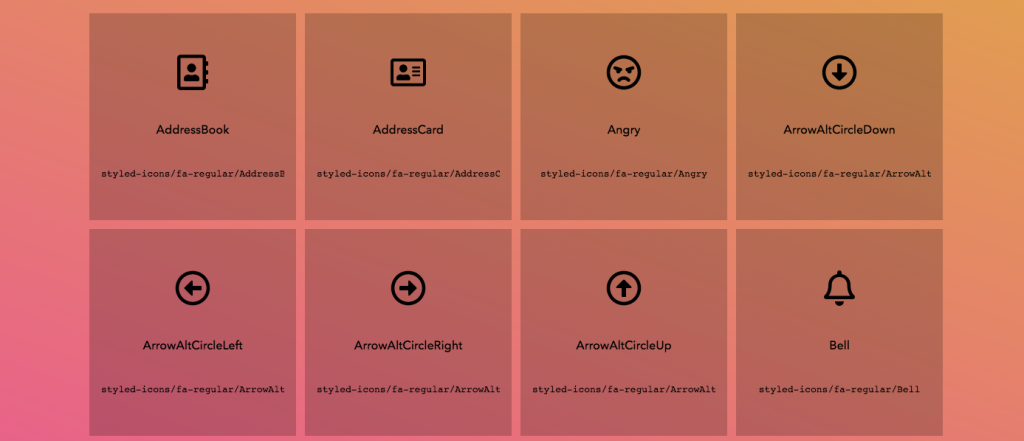 Styled-Components icons