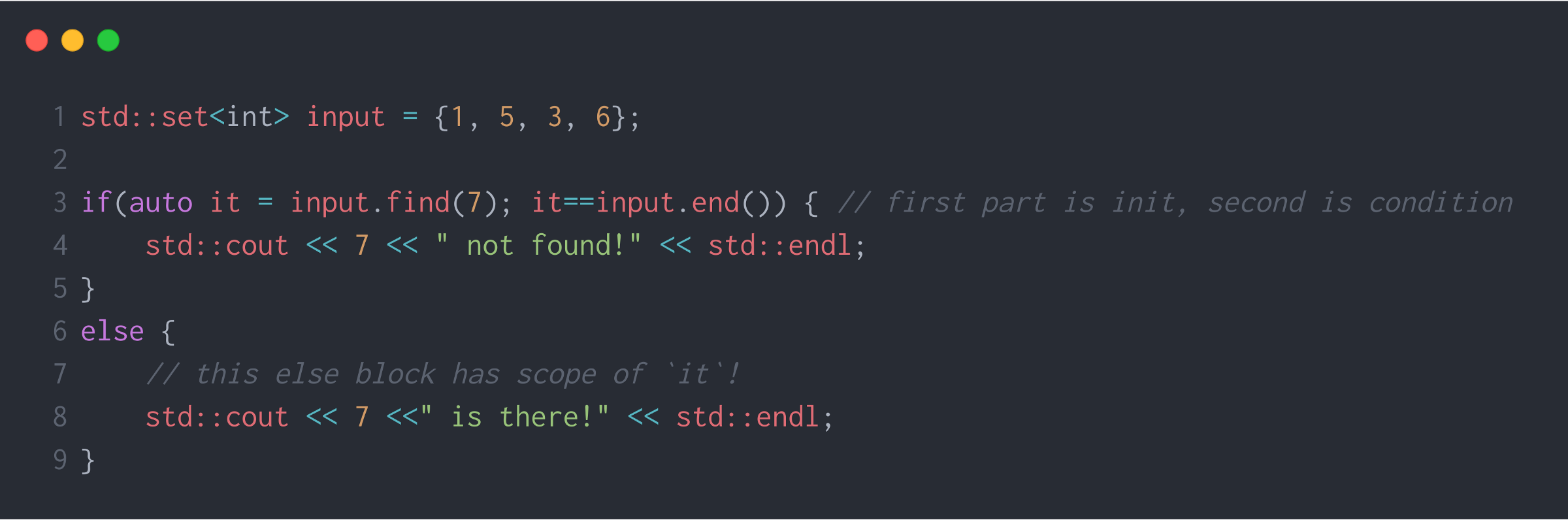 init C++