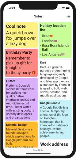 Создание приложения для заметок на Flutter/Dart