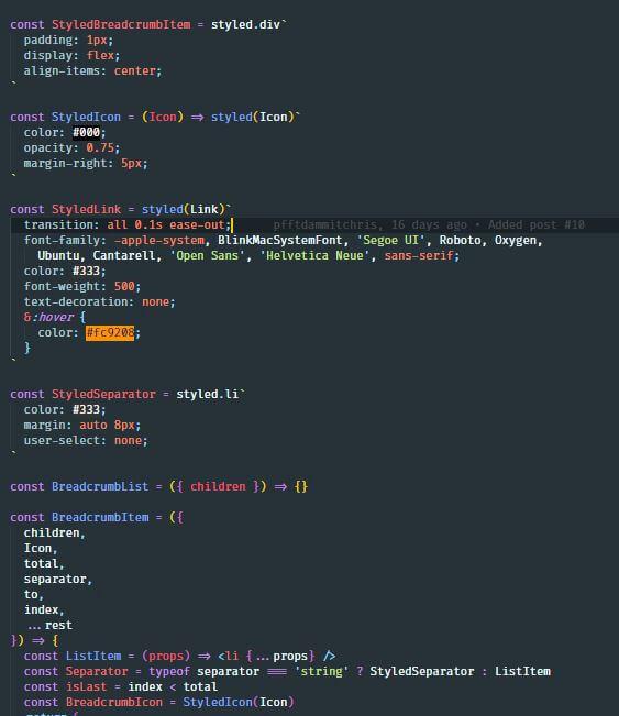 material theme for vscode